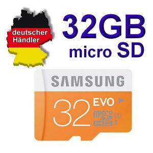 32-GB-Samsung-EVO-micro-SD-Speicherkarte-Class-10-SDHC-inclusiv-SD-Adapter