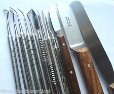 P.K THOMAS WAX CARVING PLASTER KNIFE SPATULA DENTAL LABORATORY TECHNICIAN KIT CE