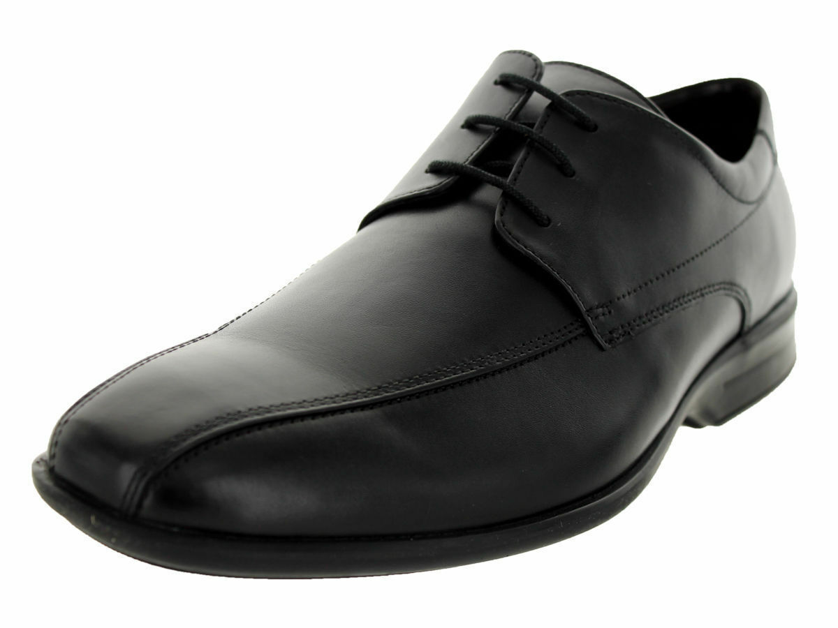 MENS CLARKS BLACK LEATHER LACE UP SHOES G FITTING STYLE GADWELL OVER