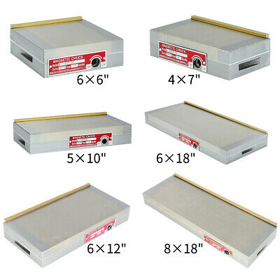 """6/""""x6/"""" Fine Pole Magnetic Chuck Machining High Precision Removable Magnet Sealed"""