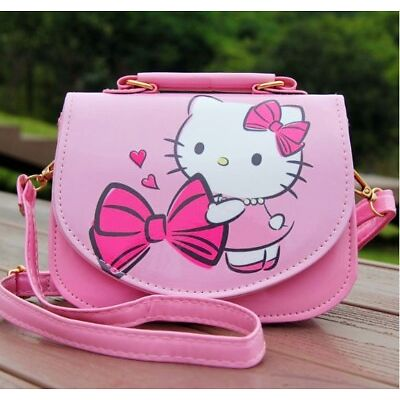 Cute cartoon PU leather shoulder bag Messenger bag handbag girl KT backpack