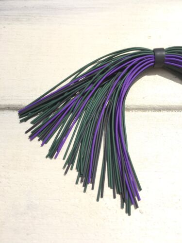 Bass Jig Skirts Living Rubber Lot Of 10 Color  Green Black Purple