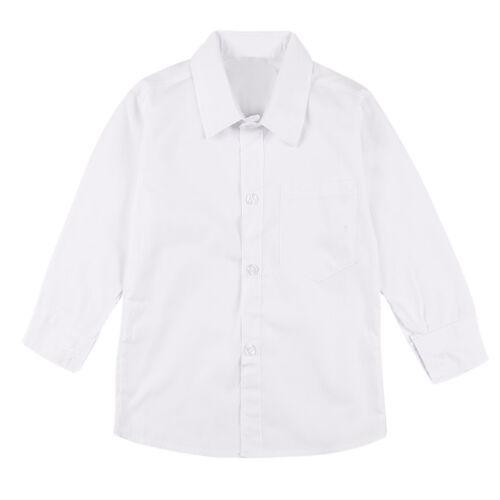 Girls Long Sleeve Dress Shirt Toddler Kids Teen Boys Button Down Down Down Suits