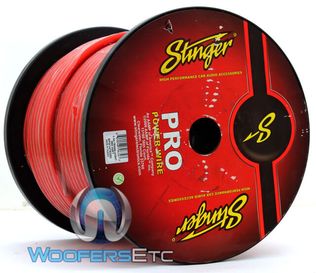 STINGER SPW14TR250 4 AWG GAUGE 250 FEET RED POWER OXYGEN FREE COPPER WIRE CABLE