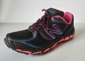Terrain black pink trail running shoes