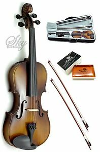 SKY-1-4-Quarter-Size-Solid-Wood-Violin-w-Rosin-Lightweight-Case-Extra-Bow