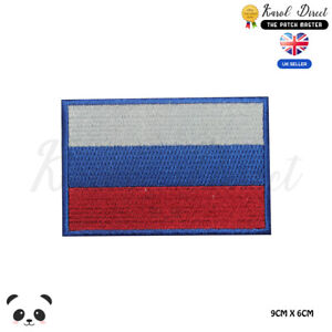 Russia-National-Flag-Embroidered-Iron-On-Sew-On-Patch-Badge-For-Clothes-etc