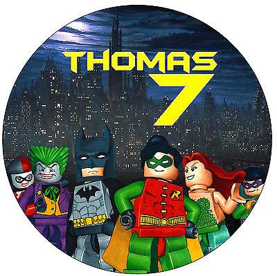 "Lego Batman 7.5"" Personalised Boys Birthday Cake Topper"