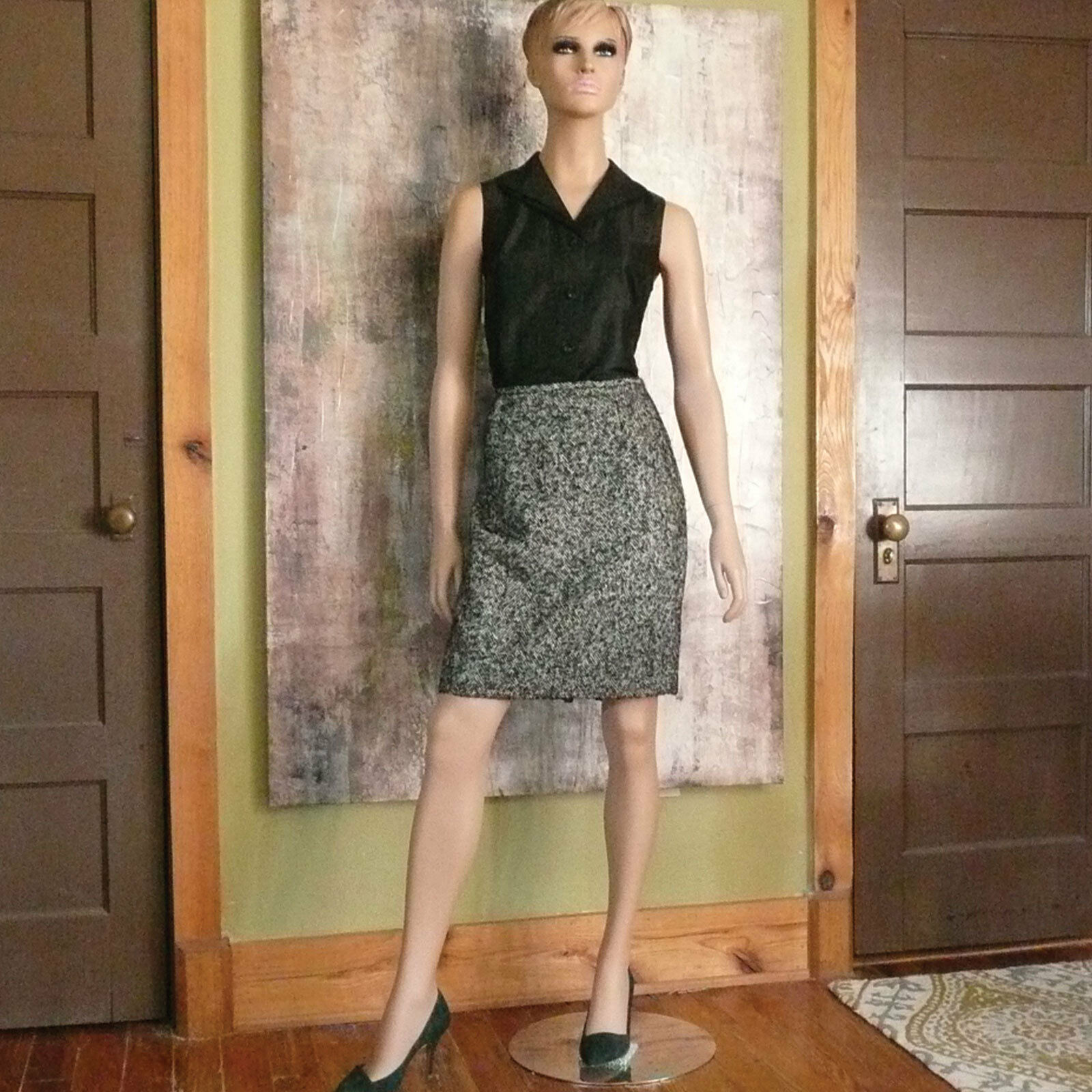 Lafayette 148 New York Pencil Skirt NWT  298 Sz 12P Virgin Wool - Mohair - Silk