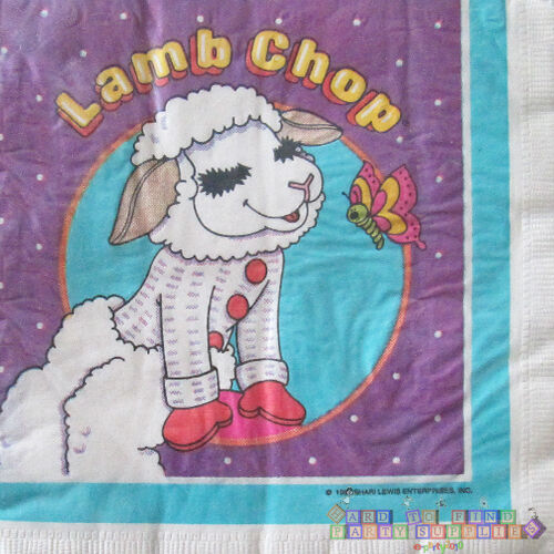 LAMB CHOP LUNCH NAPKINS 16 ~ Vintage Birthday Party Supplies Large Serviettes