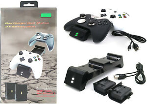 Wireless-Controller-Dual-Charging-Docks-2X-Battery-Pack-for-Xbox-One-X-S-Elite