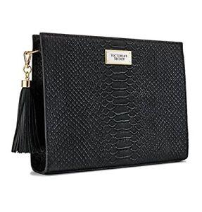 8cb41fc14cb69 Image is loading Victoria-039-s-Secret-Black-Oversized-Bag-Clutch-