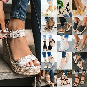 Women-Wedge-High-Heel-Espadrilles-Sandals-Open-Toe-Summer-Ankle-Strap-Shoes-Size