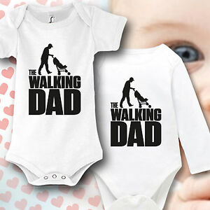 babybody baby strampler druck the walking dad geschenk idee lustig ebay. Black Bedroom Furniture Sets. Home Design Ideas