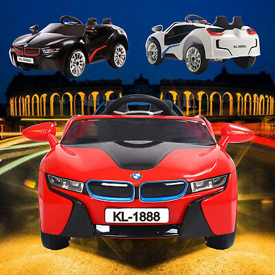 Kids 2.4G Remote Control Door Open BMW i8 Style Ride ON Car 12V Battery UK