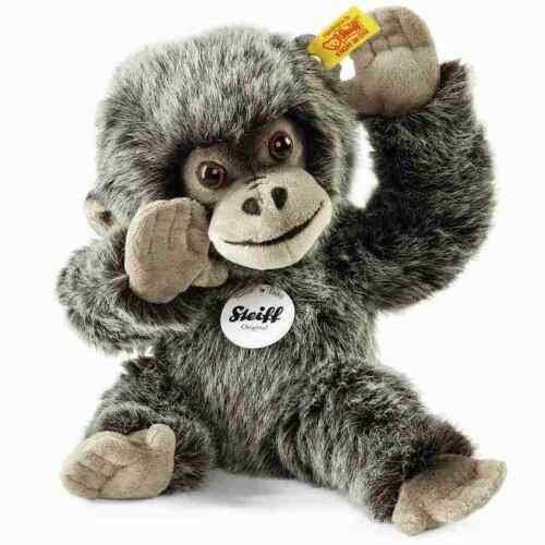 25 cm Webpelz Steiff 062292 Gora Gorilla Baby grau gespitzt