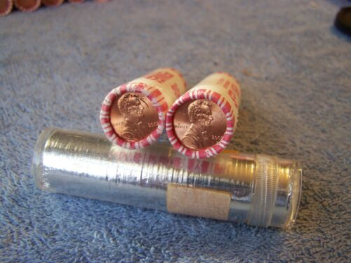 X OBW 2002 P+D **Original Bank Wrapped ** Uncirculated Lincoln Cent Rolls