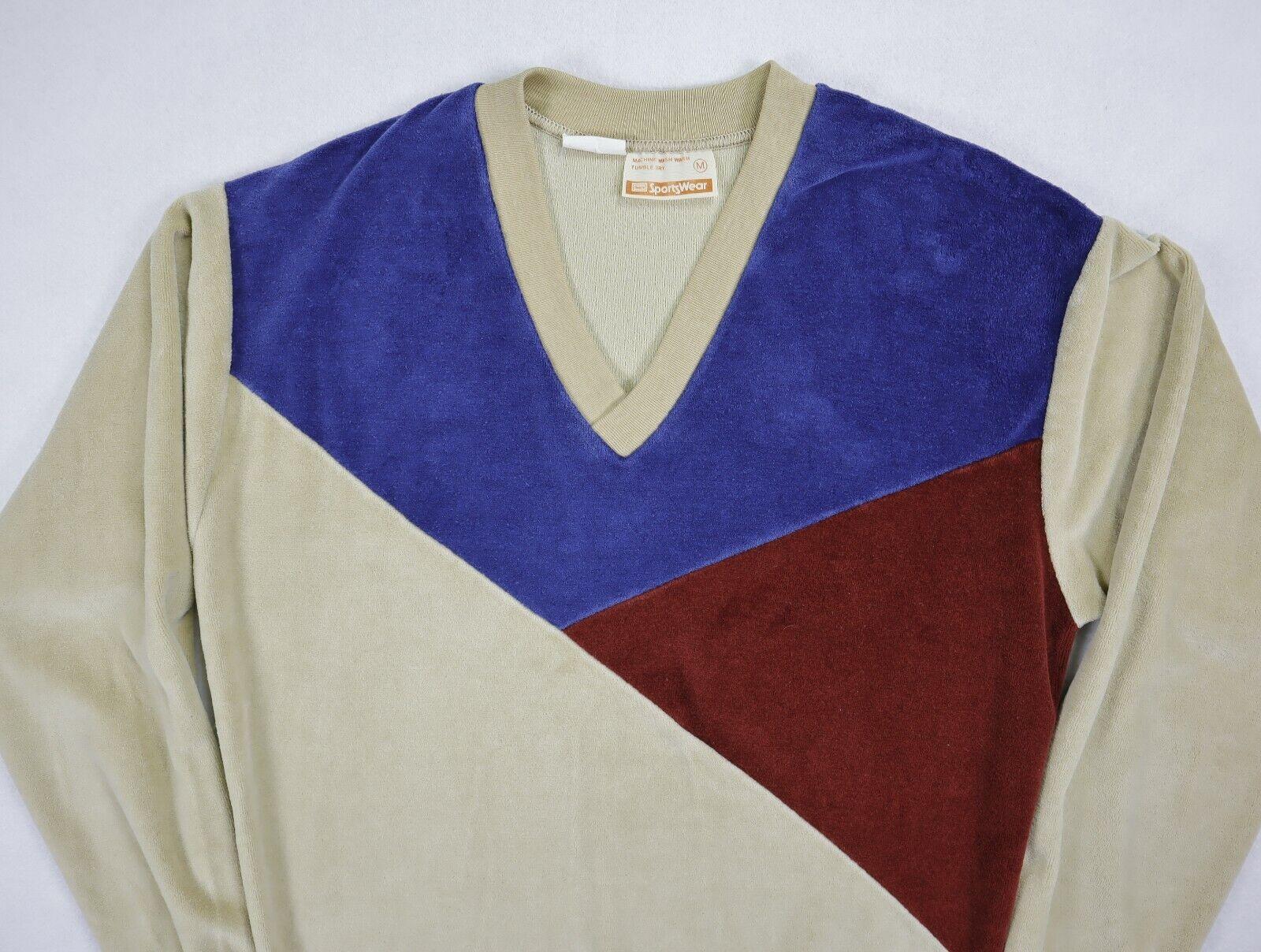 Sears Sportswear mens velour sweater medium brown… - image 3