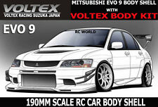 1/10 RC Car DRIFT  Body Shell MITSUBISHI EVOLUTION EVO 9 W/ VOLTEX Body Kit