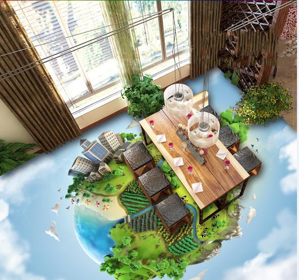 3D Sky Grün Forest 783 Floor WallPaper Murals Wall Print Decal AJ WALLPAPER US