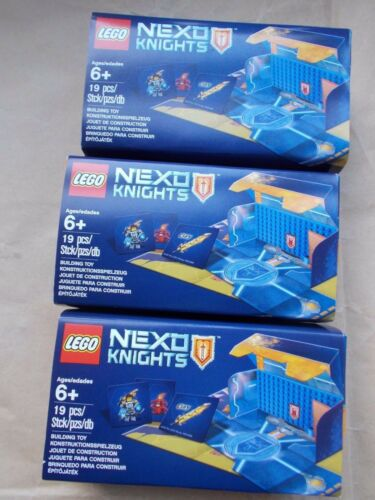 3NEW BOXED LEGO SET NEXO KNIGHTS BATTLE STATION FOLDS OUT POWER SHIELD MAP CARDS