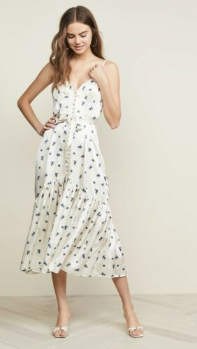 CAMI NYC Laurel Silk Floral Slip Dress in Ditsy Fl