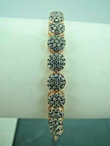 Turkish-Handmade-Jewelry-925-Sterling-Silver-Zircon-Stone-Ladies-039-Bracelet