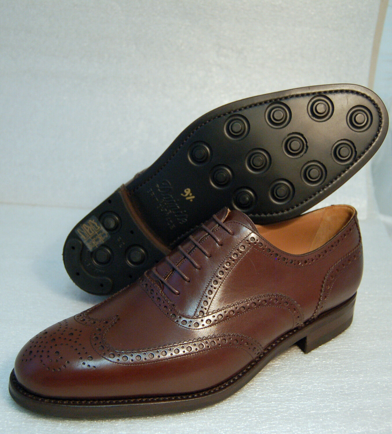 MAN OXFORD WINGTIP VIT.braun - 5048 braun CALF VIT.braun WINGTIP - DOUBLE LTH+ DAINITE RUB SOLE 020462