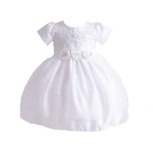Clothing, Shoes & Accessories Girls' Clothing (newborn-5t) Blanco Fiesta De Bautizo Vestido Para Niña Flores 3-6 To 12-18 Meses