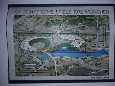 Bund Block 7 Olympische Spiele München 1972 Mi 723-726