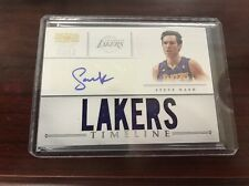 2012-13 PANINI NATIONAL TREASURES STEVE NASH PATCH AUTO /49 Lakers Autograph
