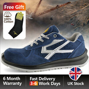 tienda del reino unido códigos de cupón 100% de garantía de satisfacción Details about Safetoe Blue Safety Shoes Mens Work Boots LightWeight  Construction