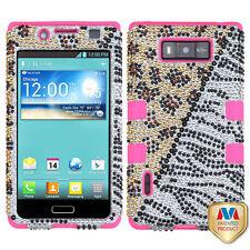 LG Optimus Showtime L86c BLING IMPACT TUFF HYBRID Hard Case Skin Cover Hottie