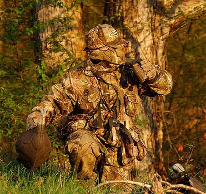 Men's Outdoor Waterproof Bionic Camouflage Clothing Sniiper Hunting Ghillie Suit