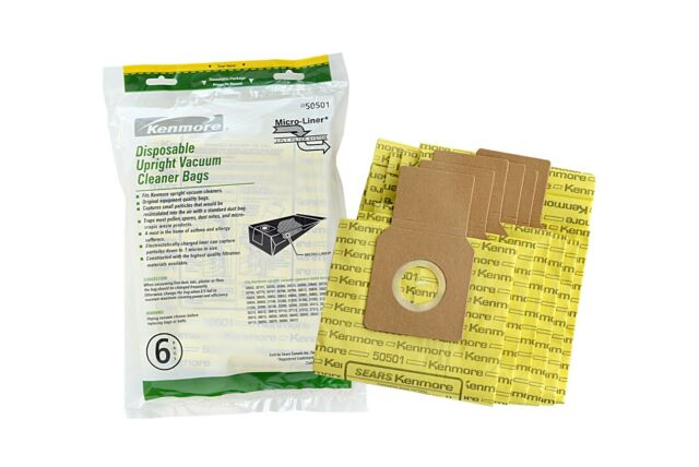 Kenmore 50501 Upright Micro Lined Vacuum Cleaner Bags, also Style No. 50680
