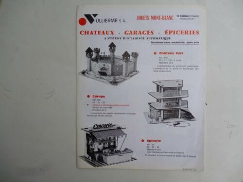 CATALOGUE JOUETS MONT BLANC CHATEAUX GARAGES EPICERIES