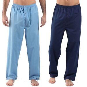 best service new photos new cheap Details about 2 pairs Pyjamas bottoms trousers mens poly-cotton Pjs  Loungewear Lounge Pants