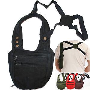 Halfter-Tasche-Holster-Schulterholster-goa-psy-security-bag-Geldtasche-Baumwolle