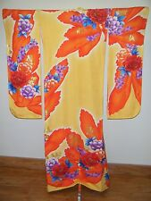 Bold Japanese Kakeshita Wedding Furisode Kimono w/ Gold Couching