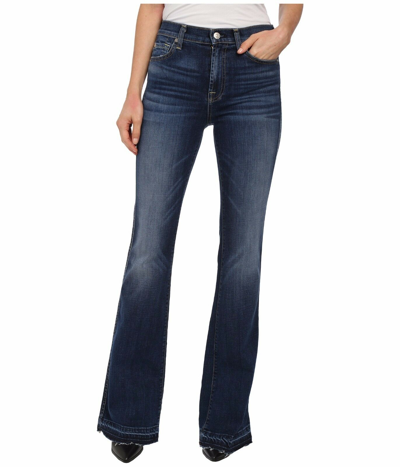 NWT SEVEN FOR ALL MANKIND SZ 1 SZ 24 HIGH WAIST VINTAGE  FLARE BOOTCUT JEANS