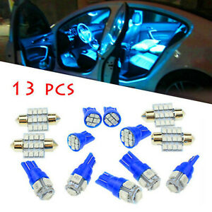 13Pcs-31mm-Auto-LED-Blue-Bulbs-Car-Interior-Lights-Dome-License-Plate-Lamp-Acce