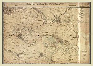 MAP-AUSTRO-HUNGARIAN-MILITARY-1872-MARCHFELD-LARGE-REPLICA-POSTER-PRINT-PAM0542