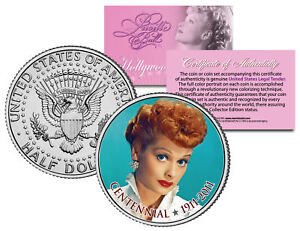 Lucille Ball I Love Lucy Centennial Birthday 1911 2011 Jfk Half