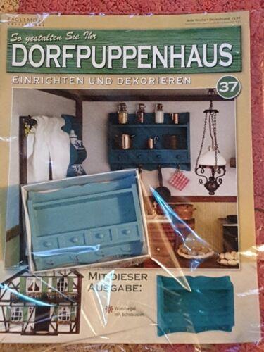 Aldea casa de muñecas nr 37 pared estante con cajones