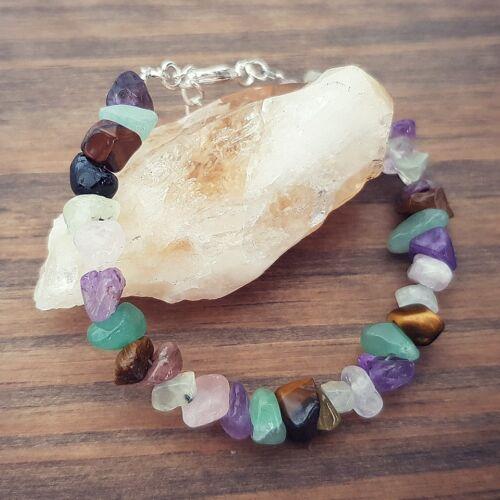 Piedra preciosa de curación de Ansiedad Salud Mental Pulsera de abalorios