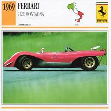 1969 FERRARI 212E MONTAGNA Racing Classic Car Photo/Info Maxi Card