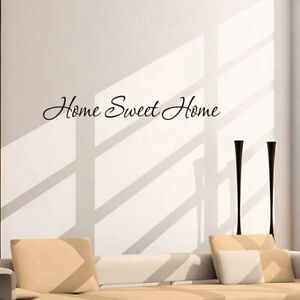 Details About Home Sweet Home Wall Quote Stickers Diy Letter Vinyl Decals Mural Living Room