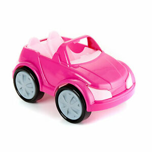 NEW-AMERICAN-PLASTIC-TOYS-FASHION-DOLL-COUPE-CAR-PINK-90250