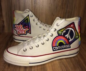 8685f7f7737 RARE 🔥Converse CTAS70 Hi Chuck Taylor All Star Pride Parade Rainbow ...