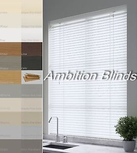 Faux Wood Venetian Blinds Made To Measure Child Safe Waterproof 21